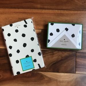 Kate Spade Spotty Dot Notecards set & Notebook NWT